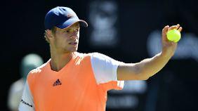 Yannick Hanfmann ist der zweite deutsche Tennisprofi im Achtelfinale von Stuttgart.