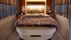 Das Schlafzimmer des T65GQ, fast wie zu Hause.