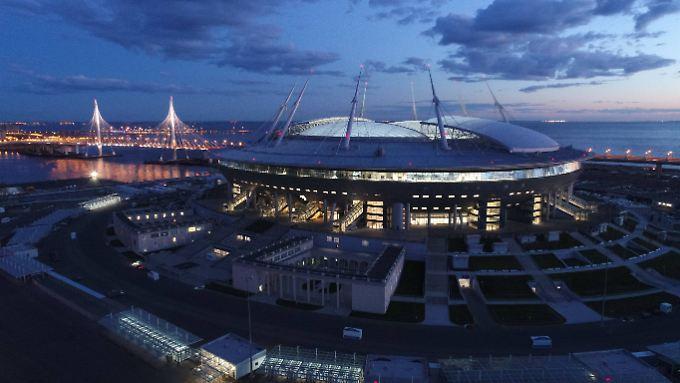 Das Stadion in St. Petersburg wurde extra für die Weltmeisterschaft neu gebaut.
