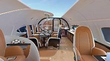 Entwurf von Airbus und Pagani: Eine Privatjet-Kabine mit Himmelblick?