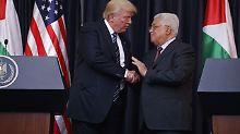 Palästinenser geben USA Zusage: Hilfe für Attentäter-Familien könnte aufhören