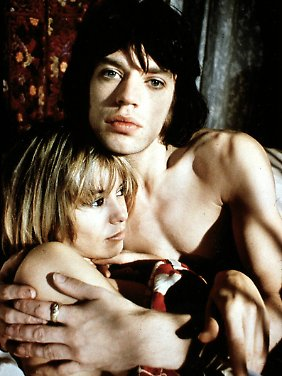 "Anita Pallenberg und Mick Jagger in ""Performance""."