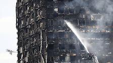 Großbrand in London: Verkohlt und verrußt - das Drama vom Grenfell Tower