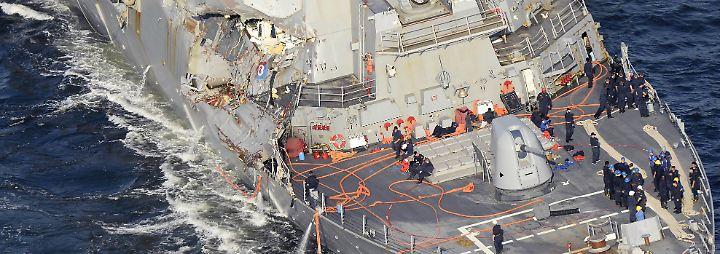 Mehrere Tote auf hoher See: US-Zerstörer kollidiert mit philippinischem Frachtschiff