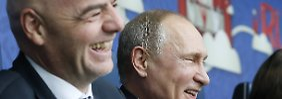 Von wegen Fußball im Mittelpunkt: Putin und Infantino liefern bizarre Show