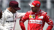 Rivalen der Rennbahn: Lewis Hamilton und Sebastian Vettel.
