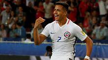 """""""Wenn ich vor den Ball trete, bin ich wieder ein Junge"""": Alexis Sánchez."""
