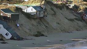 Macht des Meeres: Nordsee verschlingt britische Küstenlandschaft