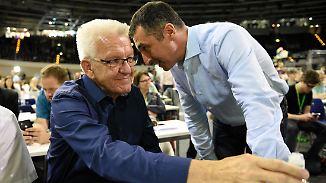 Heimlicher Videomitschnitt: Kretschmann platzt auf dem Parteitag der Kragen
