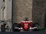 F1-Abschlusstraining in Baku: Mercedes dominiert, Defekt quält Vettel