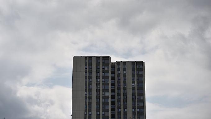 An diesem Hochhaus in Camden soll die komplette Fassade ausgetauscht werden.