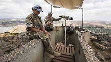 Nach Einschlägen auf Golanhöhen: Israel fliegt Vergeltungsangriff in Syrien
