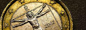 Eine italienische Euromünze: Die italienische Regierung muss vor der Öffnung der Veneto-Banken am Montag eine Lösung zur Rettung präsentieren, um einen Bank-Run zu verhindern.