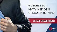 """Mittelstandspreis: n-tv sucht den """"Hidden Champion 2017"""""""