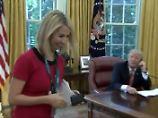 """""""Sie hat ein hübsches Lächeln"""": Reporterin bringt Trump in Flirtlaune"""