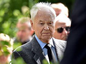 Kein Bruch mit der Vergangenheit: Modrow bei der Beerdigung des ehemaligen DDR-Verteidigungsministers Heinz Keßler am 7. Juni 2017 in Berlin.