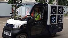"""Test mit """"Cargopods"""" in London: Online-Supermarkt liefert Einkäufe autonom"""