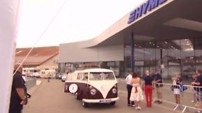 Historische Reisemobile in Oberschwaben: Hymer feiert Jubiläum mit Oldtimer-Rallye