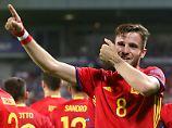 Saùl ist mit 22 Jahren bereits ein Leistungsträger bei Atlético Madrid - und natürlich in der spanischen Junioren-Nationalmannschaft.
