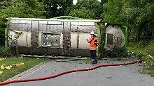 Zugunglück in Niedersachsen: Gefahrguttransport entgleist