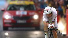 Tony Martin verpasst das Gelbe Trikot beim Auftakt-Zeitfahren der Tour de France in Düsseldorf.