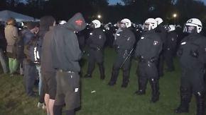 Erstes Kräftemessen vor G20-Gipfel: Polizeieinsatz gegen Protestcamp eskaliert
