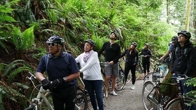 Mit dem Rad lässt sich gut die grüne Seite Vancouvers entdecken.