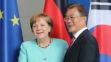 Nordkoreanischer Raketentest: Merkel befürwortet schärfere Sanktionen