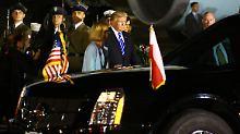 Warschau organisiert Jubel: Trump bekommt busseweise Unterstützer