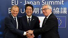 Größte Freihandelszone der Welt: EU und Japan einig über Handelspakt