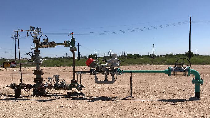 Die Ölwirtschaft steht unter wachsendem Druck: ein Bohrlochkopf von Occidental Petroleum in Hobbs, New Mexiko.