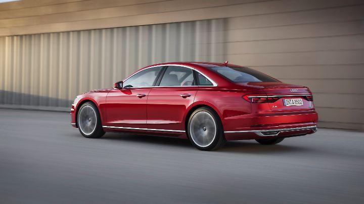 Das Design des Audi A8 hat sich zum Vorgänger deutlich verändert.
