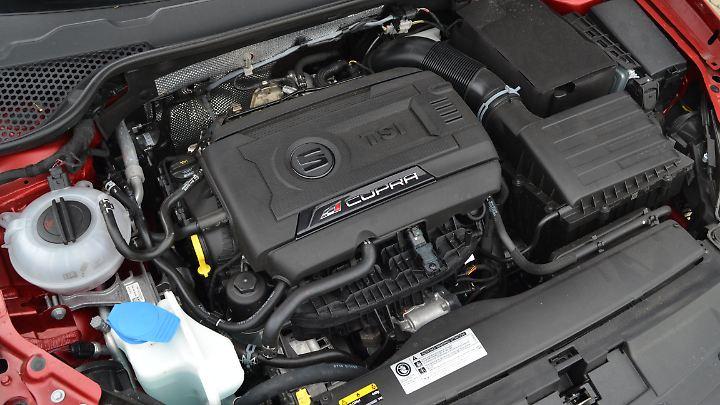 Aus dem 2.0-Liter-Vierzylinder schöpft der Cupra ST 300 PS und generiert ein maximales Drehmoment von 380 Newtonmeter.