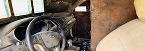 Weil in der Vergangenheit wiederholt die Fahrer der rollenden Bomben von Scharfschützen erschossen wurden, bevor sie ihr Ziel erreichen konnten ...