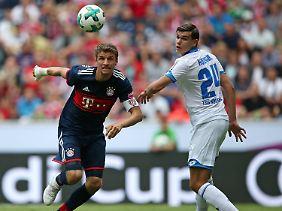 Thomas Müller durfte die Bayern als Kapitän anführen.