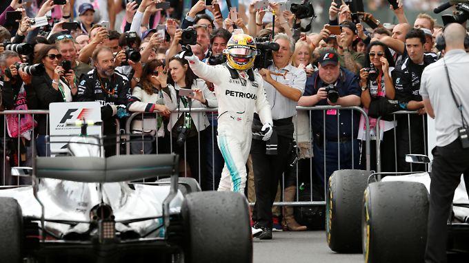 Lewis Hamilton feierte seinen vierten Silverstone-Sieg in Folge.