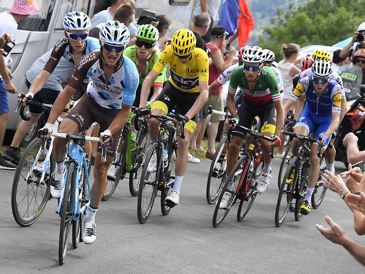 Die Herausforderer um den Franzosen Romain Bardet brachten Froome bei der Tour mächtig ins Schwitzen.