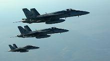 Die internationale Koalition fliegt seit September 2014 Angriffe gegen den IS in Syrien.