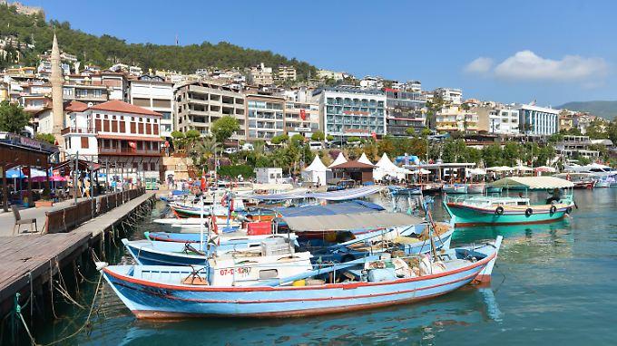 Im Hafen von Alanya, einst eine Hochburg für deutsche Touristen.