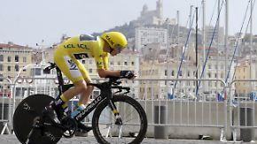 Vorletzter Tag der Tour de France: Froome sprintet im Einzelzeitfahren zum Quasi-Gesamtsieg