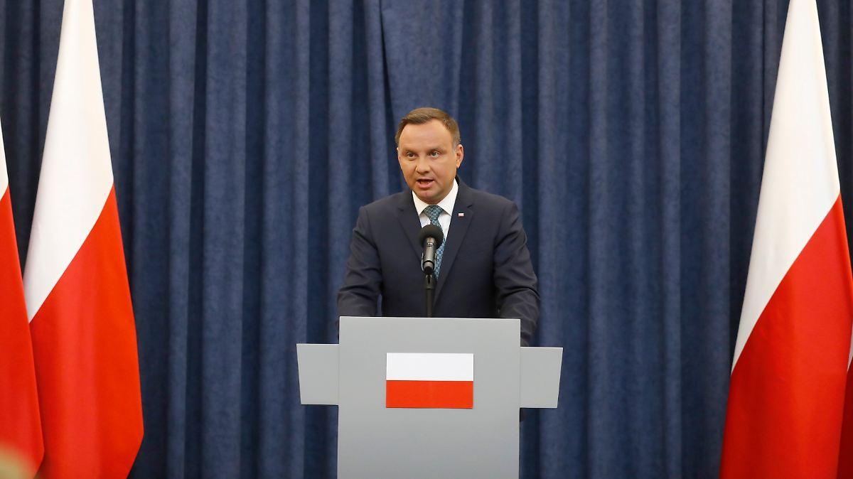 Polens Präsident Duda legt Veto ein