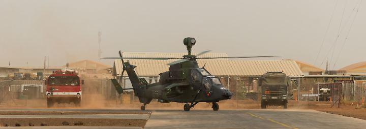 """In Mali sind vier """"Tiger""""-Kampfhubschrauber im Einsatz."""