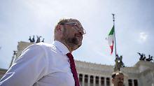 Verteilung von Flüchtlingen: Schulz schlägt sich auf die Seite Italiens