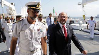 Flüchtlingsfrage im Wahlkampf: Schulz fordert Solidarität mit Italien