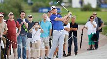 Im Endspurt zu viel gewollt, am Ende trotzdem viel gelernt: Golfprofi Alexander Knappe bei den European Open in Winsen.