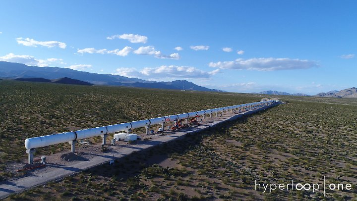 Der Hyperloop wird in der Wüste in Nevada getestet.