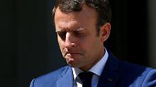 Umfrage-Klatsche für Macron: Frankreichs Präsident im freien Fall