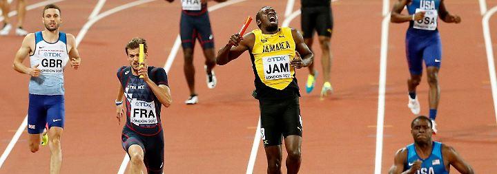Nichts geht mehr: Usain Bolt gibt auf.