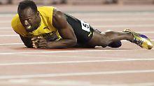 Drama um den großen Usain Bolt: Ein Krampf - ausgerechnet im letzten Rennen