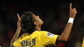 Neymars Fingerzeig: ein Tor, eine Vorlage.